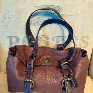 Coach Chelsea Pebble Leather Brown Satchel